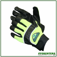 Forester 100% Black Natural Goatskin Leather - Green Back #Fogl1014