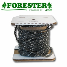 """Forester 100FT Roll - 3/8""""ext .050 Low Profile Non-Safety Full Chisel Chain Saw Chain"""