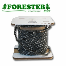 "Forester 100ft Roll - 3/8"" Standard .050 Round Tooth Reduced Kickback Chain Saw Chain"