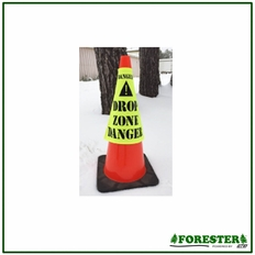"Forester 16"" Drop Zone Cone Sleeve Cover - Safety Green"