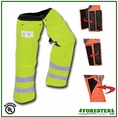 "Forester 35"" Short Wrap Around Slap Chap Velcro Chainsaw Chaps - Safety Green"