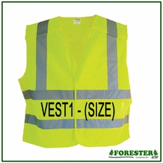 Forester 5 Point Tear-away Class 2 Velcro Front Safety Vest - Vest1