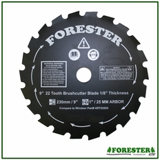 """Forester 9"""" 22 Tooth Brushcutter Blade #Formaxi22525"""
