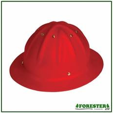 Forester Aluminum Full Brim Hard Hat - Red