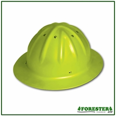 Forester Aluminum Full Brim Hard Hat - Safety Green