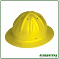 Forester Aluminum Full Brim Hard Hat - Yellow