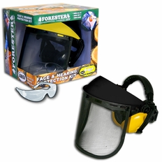 Forester Black/Yellow Face & Hearing Protection Kit