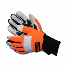 Forester Orange Kevlar Lined Chainsaw Gloves - Knit Cuff