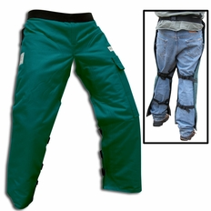 """Forester Green Long 40"""" Apron Style Chainsaw Chaps"""