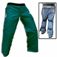 "Forester Green Short 35"" Apron Style Chainsaw Chaps"
