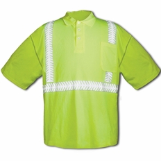 Forester Hi-Vis Class 2 Short Sleeve Polo Shirt - Safety Green