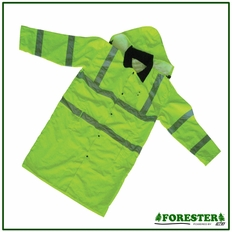Forester Hi-Vis Extra Long Rain Slicker - Hi-Vis Safety Green