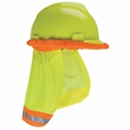 Forester Hi-Vis Hard Hat Sunshade Neck Protection - Safety Green