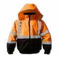 Forester Hi-Vis Insulated Bomber Jacket - Orange