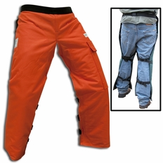 """Forester Orange Regular 37"""" Apron Style Chainsaw Chaps"""