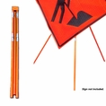 "Forester Orange Tripod Sign Stand - 36"" & 48"" Signs"