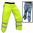 "Forester Safety Green Long 40"" Apron Style Chainsaw Chaps"