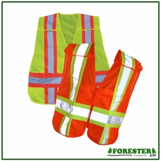 Forester Zipper Tear-Away Vest - Orange - Vest21