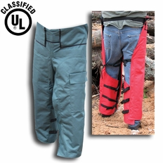 """Forester Adjustable Length 35""""-42"""" Wrap Around Chainsaw Chaps - Green"""