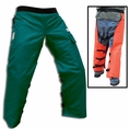 "Forester 40"" Long Wrap Around Chainsaw Chaps - Green"