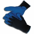 Navy Blue Insulated Rubber Palm Winter Gloves - 685002