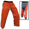 "Forester 35"" Short Wrap Around Chainsaw Chaps - Orange"