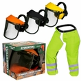 Forester Trimmer Trouser Chaps/Face Shield Combo - Safety Green