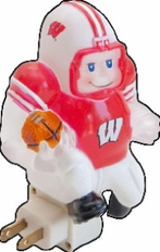 Wisconsin Badgers Football Player Night Light