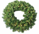 "24"" Pine Wreath 250 tips and 50 Concave Soft White LED lights w/ Battery Operated-Timer by Jolly Workshop (MKWR-1)"