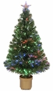 "Jolly Workshop 36"" Multi-Color LED Fiber Optic Tree Top Star 125 Tips 11 Ply w/ Gold Base (MK36-2)"
