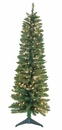 Jolly Workshop 5' Pre-Lit  Pencil Green Tree 236 Tips, 150 UL Lights (MKPT-02)