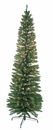 Jolly Workshop 7' Pre-Lit Pencil Green Tree 400 Tips, 300 UL Lights (MKPT-04)