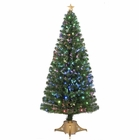 "Jolly Workshop 72"" Multi-Color LED Fiber Optic Tree Top Star 265 Tips 19 Ply 65 LEDs w/ Gold Base (MK72-1)"