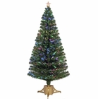 "Jolly Workshop 72"" Multi-Color LED Fiber Optic Tree Top Star 265 Tips 19 Ply w/ Gold Base (MK72-2)"