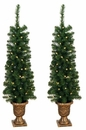 Jolly Workshop Prelit 4' Entryway Porch Tree - Set of 2 - 140 Tips, 60 UL Lights (MKTP-01)