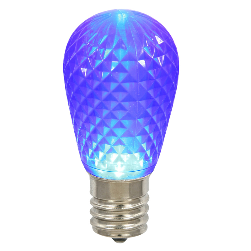 Vickerman XLEDS12 11S14 Faceted LED Blue Lamp E26 .96W