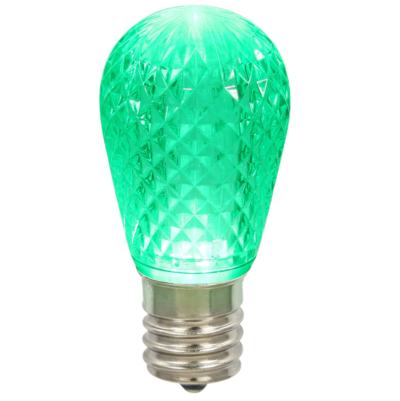 Vickerman XLEDS14 11S14 Faceted LED Green Lamp E26.96W