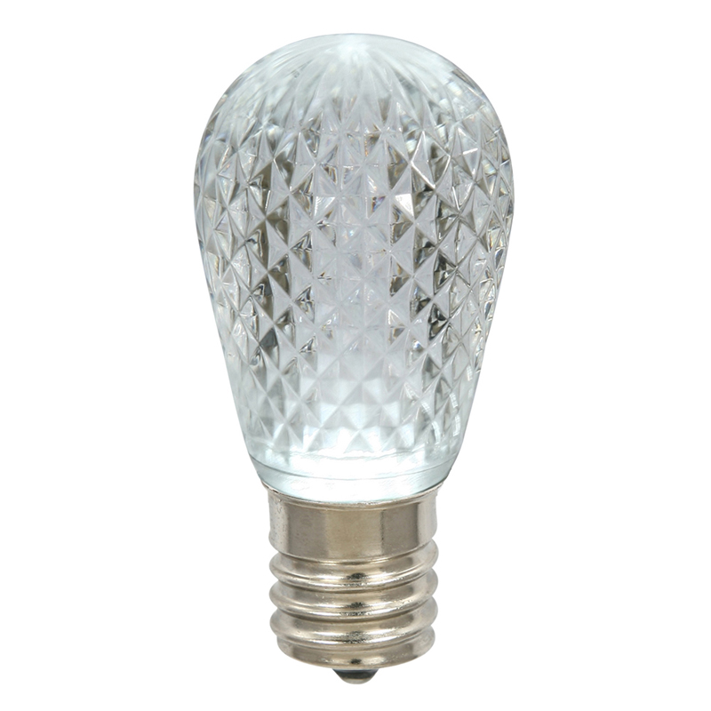 Vickerman XLEDS19 11S14 Faceted LED PurWhite Lamp E26.96
