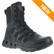 Reebok RB8845 Men's ZigKick 8in Side Zip Black Tactical Boots