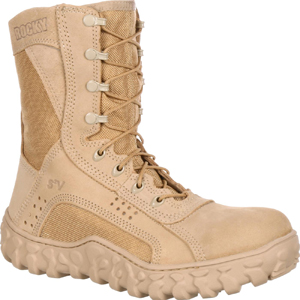 Rocky S2V Men's Vented Desert Tan Military Boot with Superfabric Instep (101)