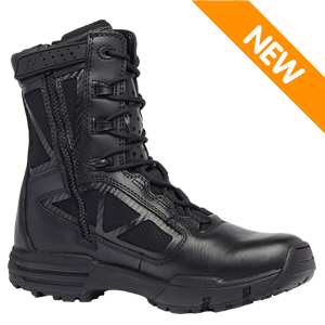 Tactical Research TR918Z Chrome Men's Side Zip 8in Black Tactical Boot