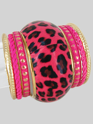 Animal Print Bangle Bracelet Set