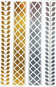 Silver & Gold Metallic Tattoos