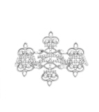 Chandelier Ring Silver