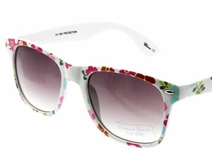 Flower Print Sunglasses