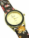 Flower Print Watch