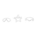 Star Midi Ring Set