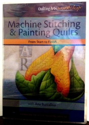Ana Buzzalino's Machine Stitching and Painting Quilts DVD