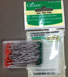 Clover 2508 - 0.6 mm Quilting Pins (100)