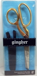 "Gingher Gold-Handled 8"" Dressmaker's Shears"